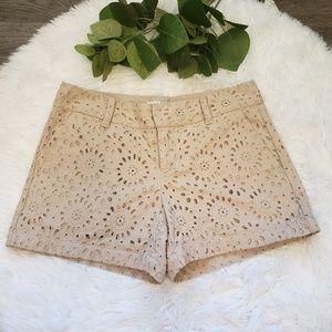 LOFT Eyelet Lace Shorts